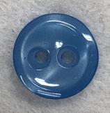 Knoop glanzend met een randje helder blauwe