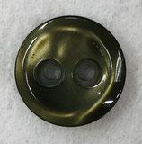 Knoop glanzend met een randje olijfgroen