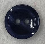 Knoop glanzend met een randje donkerblauw