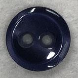 Knoop glanzend met een randje nachtblauw