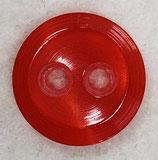Knoop glanzend met een randje rood