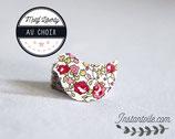 Confettis de table x 70 : oiseaux en liberty  Éloïse rose