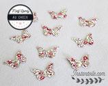 """Confettis de table  x 70 : papillons en liberty Éloïse rose"""""""