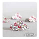 """Confettis de table x 70 : nuages en liberty Éloïse rose"""""""