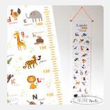 """Toise à personnaliser """"Les animaux en alphabet"""""""