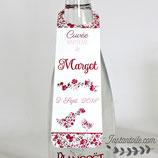Collerettes / étiquettes personnalisées pour goulots de bouteilles - thème oiseaux en liberty : lot de 3 ou 10