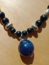 Collier long Lapis-Lazuli / Shungite