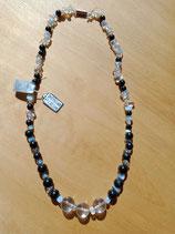 Collier Opaline/Shungite et Cristal de Roche