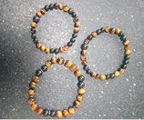 Bracelets shungite et oeil de tigre
