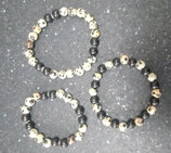 Bracelets shungite et jaspe dalmatien