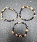 Bracelets Shungite et Agate du Tibet