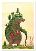 """Postkarte """"Moosbär"""""""