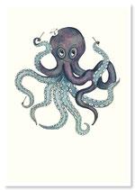 "Postkarte ""Oktopus"""