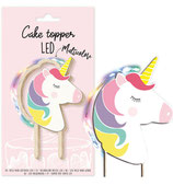 CAKE TOPPER LED LICORNE OU ARC EN CIEL