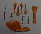 Garniture complète en buis sculpté pour violons