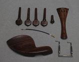Garniture en palissandre pour violons, avec frette noire style français