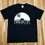 Twilight City Records レーベルロゴ T Shirt / Black & White
