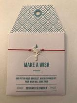 Make a Wish Armband - Flamingo silber - Mint Sweden