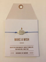 Make a Wish Armband - cloud silber - Mint Sweden