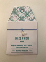 Make a Wish Armband - new Heart silber - Mint Sweden