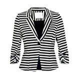 India Stripe Blazer - midnight marine - Kaffe