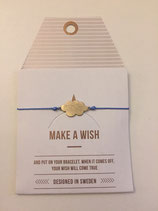 Make a Wish Armband - cloud gold - Mint Sweden