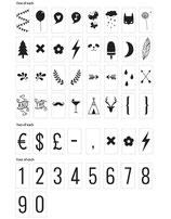 Zahlen & Symbole - A little lovely Company