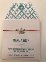Make a Wish Armband - Turtle gold - Mint Sweden