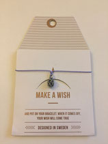 Make a Wish Armband - Pinecone silber - Mint Sweden