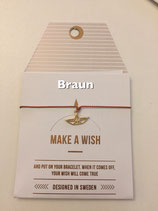 Make a Wish Armband - Paper boat gold - Mint Sweden