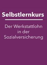 Selbstlernkurs: Der Werkstattlohn in der Sozialversicherung 2020