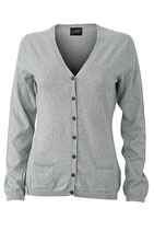 Strickjacke Seide/Kaschmir Anteil Light Grey