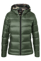 Ladies Down Jacket Olive/Camouflageor Navy/silver