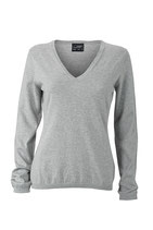 Strickpullover Seide/Kaschmir Anteil Light Grey