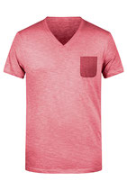 BIO T-Pocket V Neck Shirt Herren