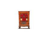 Antiker Chinesischer Schrank mit dezenten fernöstlichen Handmalereien