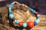 """Armband """"Koralle + Lapis"""""""