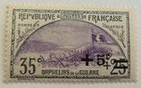 N°166 35 c.+25 c. surchargé +5 c. ardoise et violet, orphelins de la Guerre