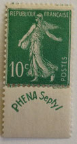 N°188 10 c. vert Phéna, type semeuse fond plein