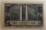 N°317 1 f. 50 bleu, Vimy