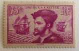 N°296  75 c. lilas, Jacques Cartier