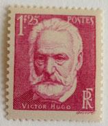 N°304 1 f. 25 lilas-rose, Victor Hugo