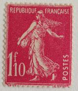 N°238 1 f. 10 rose, type semeuse fond plein