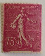 N°202 75 c. lilas rose, type semeuse