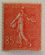 N°204 85 c. rouge, type semeuse