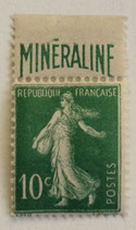 N°188A 10 c. vert Minéraline, type semeuse fond plein
