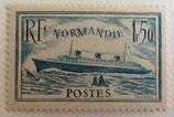 N°300b.  1 f. 50 bleu turquoise, paquebot Le Normandie