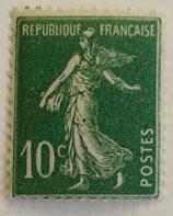 N°188b 10 c. vert sans bandelette, type semeuse fond plein