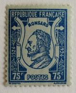 N°209 75 c. bleu azur, Ronsard