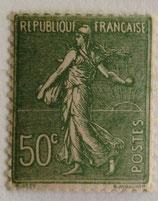 N°198 50 c. olive, type semeuse